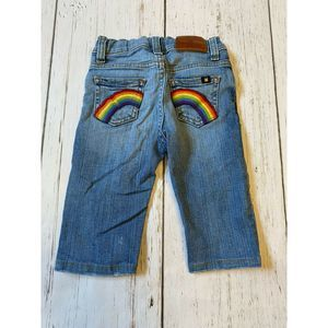 Lucky Brand dungaree jeans Baby Rainbow pocket